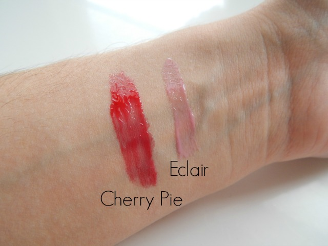 NYX Butter Gloss in Cherry Pie and Eclair, review & swatches