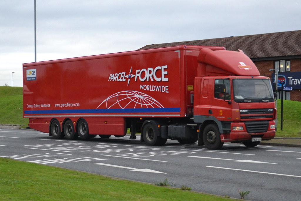 Parcel Force DAF CF PO54YJK - Widnes