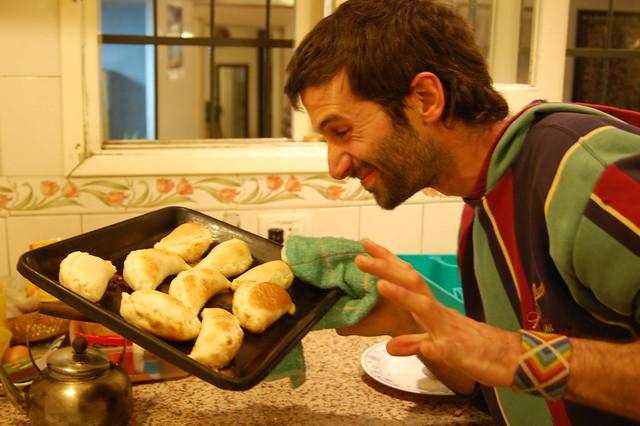 Making Empanadas in Mendoza, Argentina
