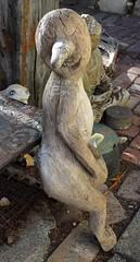 Folk Art Carved Tree Trunk