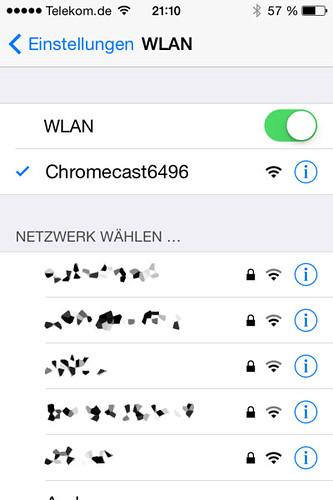 10 - Google Chromecast - Über WLAN auswählen