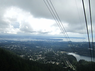 View from the gondola.  Grouse Mountian, Vancouver, Canada..