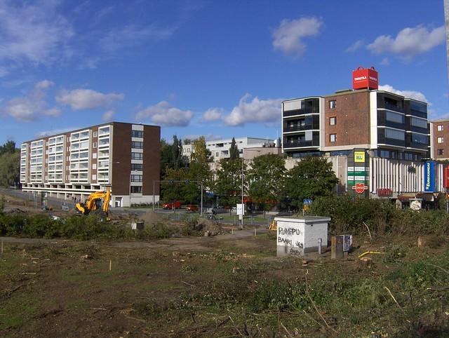 Hämeenlinnan moottoritiekate ja Goodman-kauppakeskus: Työmaatilanne 11.9.2011 - kuva 10