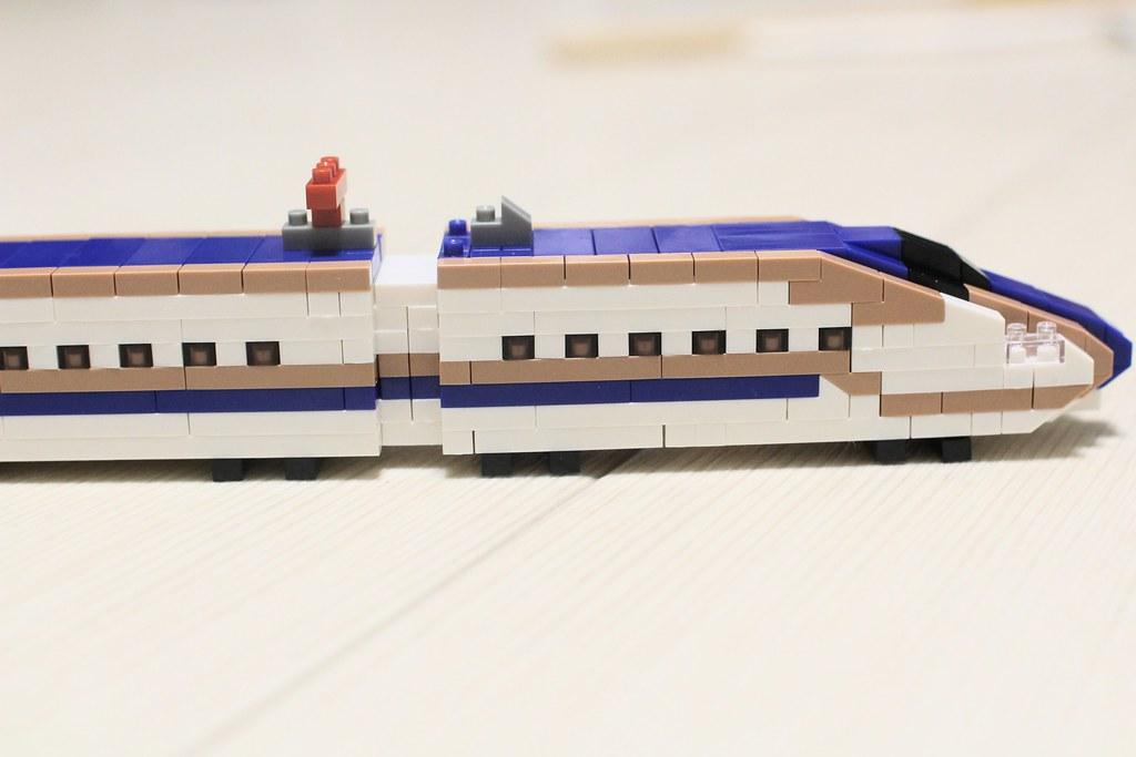 ナノブロックトレインコレクション_E7系新幹線完成4