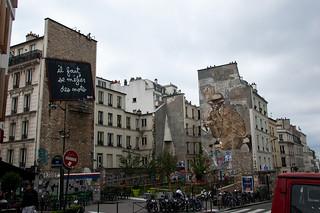 Fresques et façades décorées le long de la Rue de Belleville
