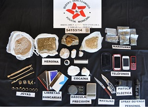 Operación anti-droga de la Policía Municipal en el Gran Bilbao