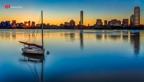 reflection sunrise dawn boat massachusetts newengland hdr bostonskyline nikfilter canon5dmarkiii lightroom5 cmonsoonphoto photoshopcc2014