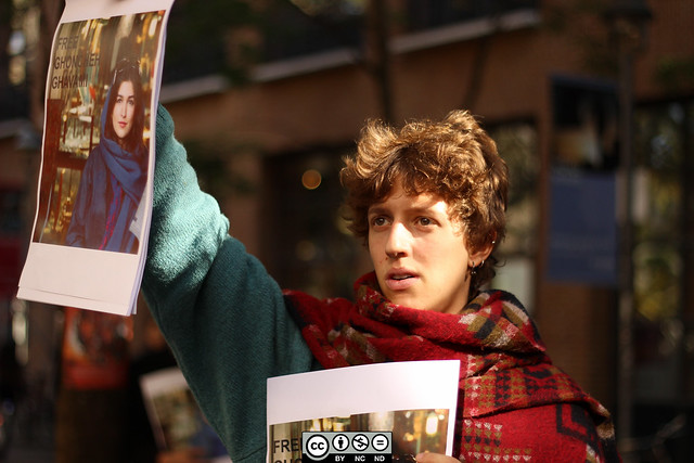 Protest-Ghoncheh Ghavami-SOAS-10Oct14