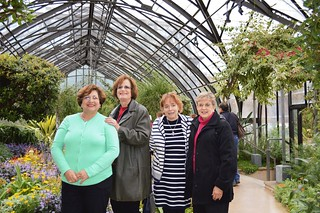 WCCP-trip to Longwood Garden Oct 30, 2014-left to right: Nora Ananos, Florence Begun, Ellyn Vogel, Marlene Gordon-DSC_0163_cx