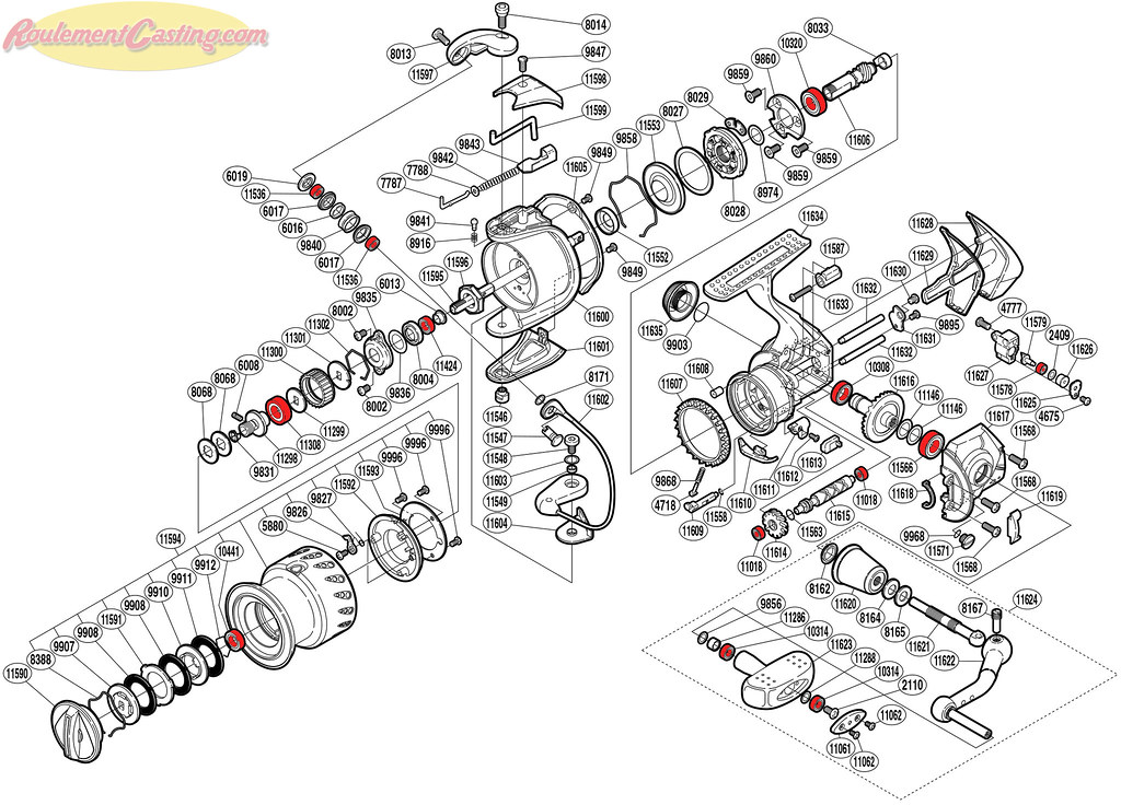Schéma Shimano Stella 2500FD