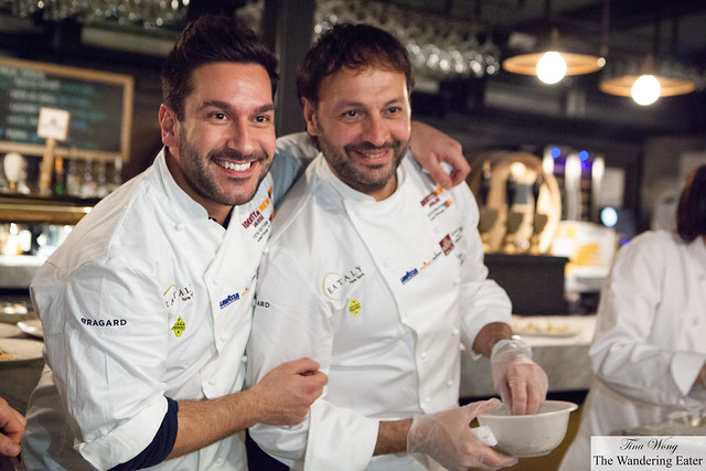 Chef Denny Imbroisi (left) and Ugo Alciati (right) colleague