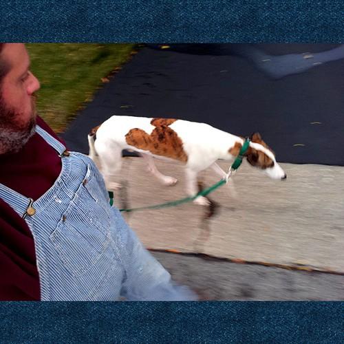 Walking Cane. #Cane #DogsOfInstagram #overalls #HickoryStripe #vintage