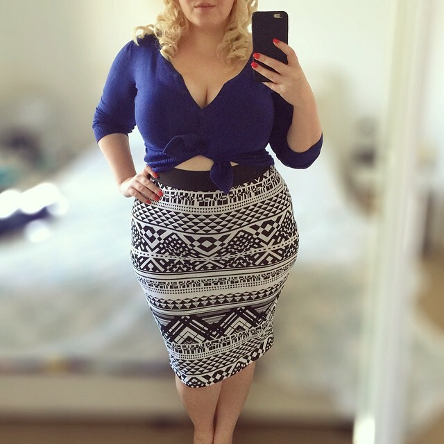 Outfit of the day from the weekend - I was busy drinking tequila and being hungover so I forgot to upload it!   Wearing: navy cardigan by #glassons // geometric pencil skirt by #target #targetoutfit // nail colour is 'Ruby Tuesdat' by #kesterblack for #be