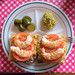 Shrimp and avocado open sandwich