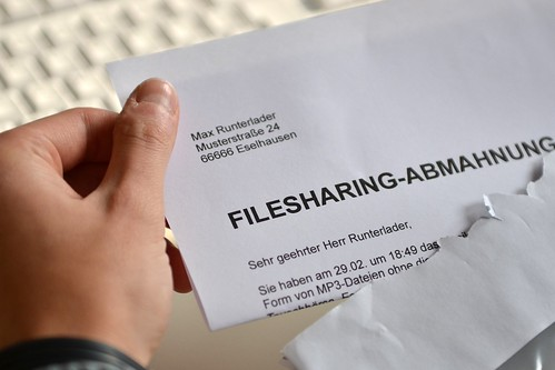 Filesharing-Abmahnung | by dirkvorderstrasse