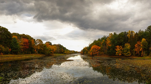 autumn trees panorama fall water clouds october stitch fallcolors connecticut ct autumncolours newcanaan fairfieldcounty sonydscrx100