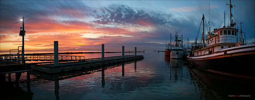 autumn sunset panorama fall vancouver clouds reflections boats fishing richmond steveston explorebc explorecanada