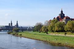 2014-10-16 10-20 Dresden 008 Albertbrücke, Sächsische Staatskanzlei