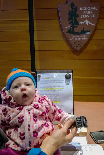Nora's first National Park passport stamp!