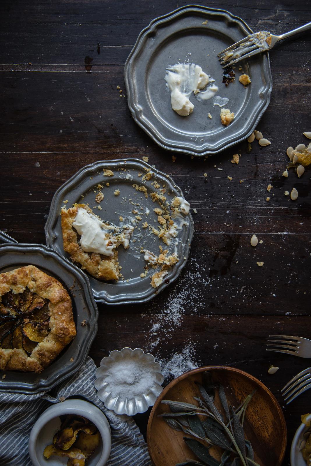 acorn squash & hazelnut frangipane galettes