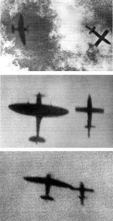 Spitfire derribando una V1