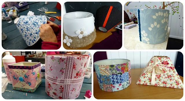 Upcycling Lampshades workshop Nov14