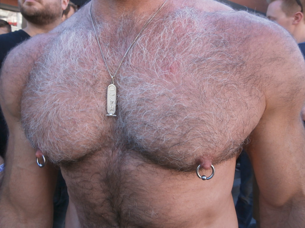 EVERYONES FAVORITE HAIRY CHEST HUNK ! 2014 CASTRO STREET FAIR ! (safe photo)