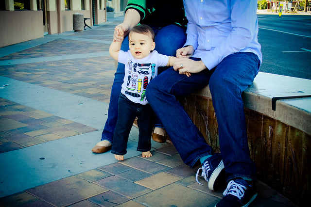 Family photos in downtown Chandler