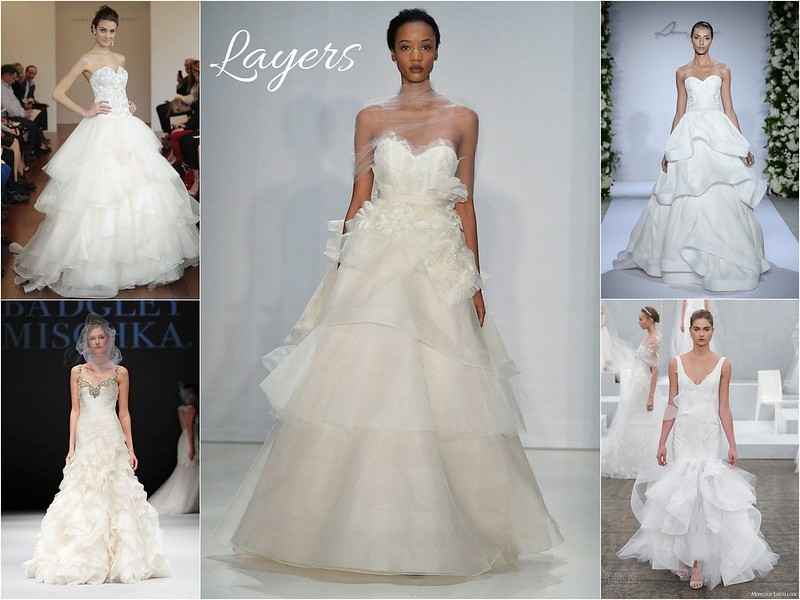 Fall 2015 bridal week trends - layers