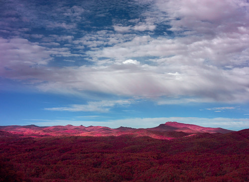 autumn mountains color landscape scenic northcarolina infrared appalachia