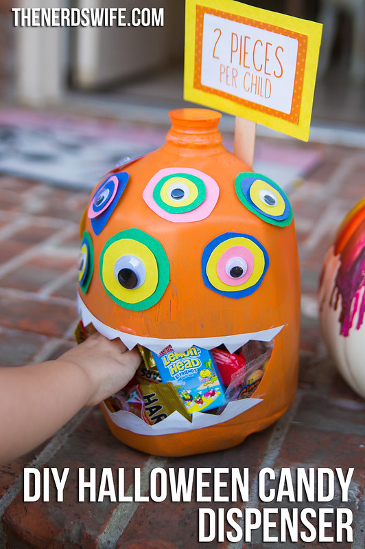 DIY Halloween Candy Dispenser