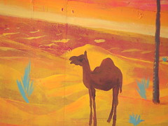 art, painting, mural, camel, illustration, modern art, acrylic paint,