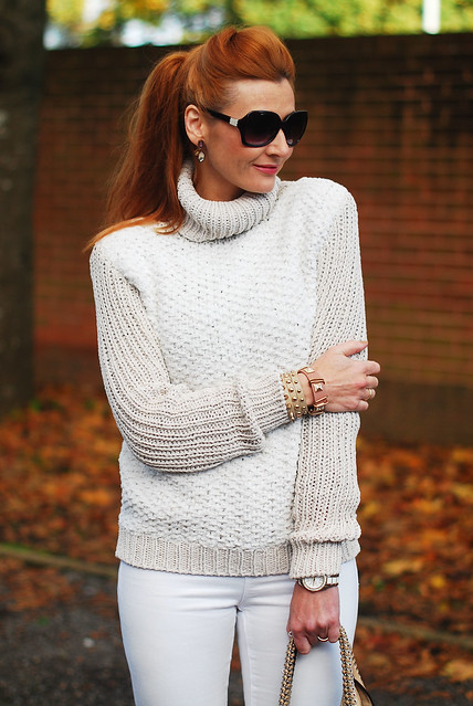Winter whites (skinny jeans and roll neck sweater) - over 40 fashion
