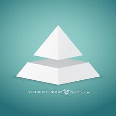 simple pyramid shape design