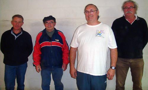 02/11/2014 - Plougasnou : Les finalistes du concours de boules plombées en doublettes mêlées