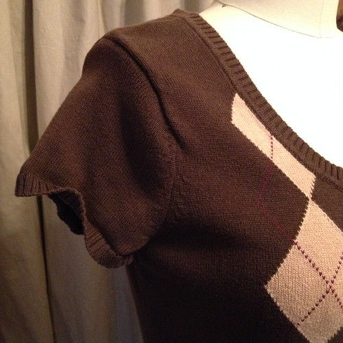 Sweater Vest Refashion - Before