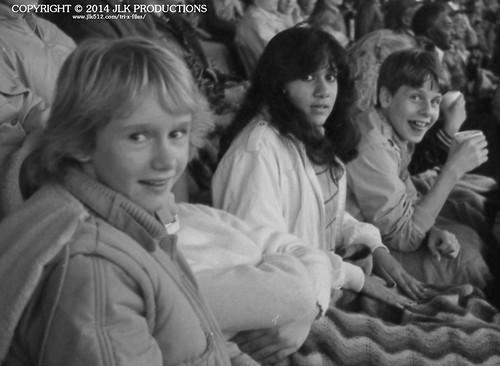Tri-X Files 84_29.05a: Darlene, Meena and Kurt at the Louisville Football Game