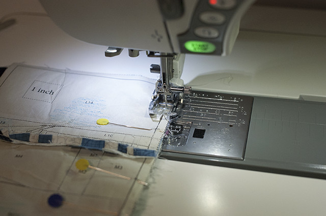Using a walking foot to sew thick seams