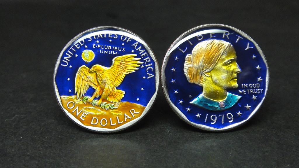 woc2876 USA coin cufflinks