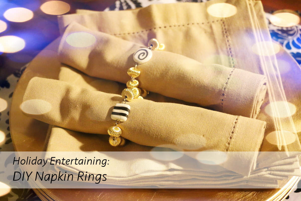 DIY Holiday Napkin Rings by STYLEanthropy