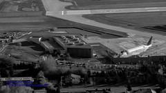 Black & White of Future of Flight & A Dreamlifter