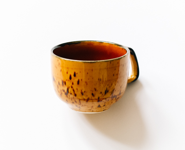 handmade yellow cup