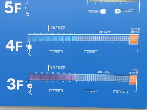小倉競馬場の4階A指定席の座席表