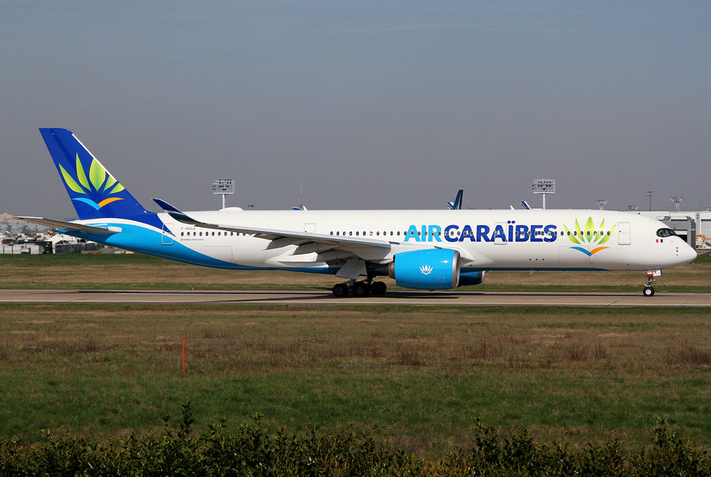 What a great livery on Air Caribes' newest aircraft type. Speeding up on RWY08 for departure to Fort de France FDF. Delivered 02/2017.
