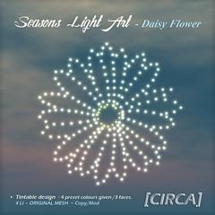 "@ SaNaRae ~ [CIRCA] - ""Seasons Light Art"" - Daisy Flower"