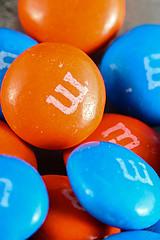 Orange & Blue M&M's