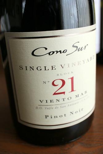 コノスル シングルヴィンヤードとシャノンの甘口ワイン