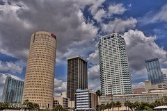 Beer can.    C70D.    Tampa skyline and the beer can building.  In St Pete for a video shoot.