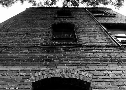 blackandwhite abandoned urbex urbanexplorer architecture brickwork pointofview bw blackwhite decaying