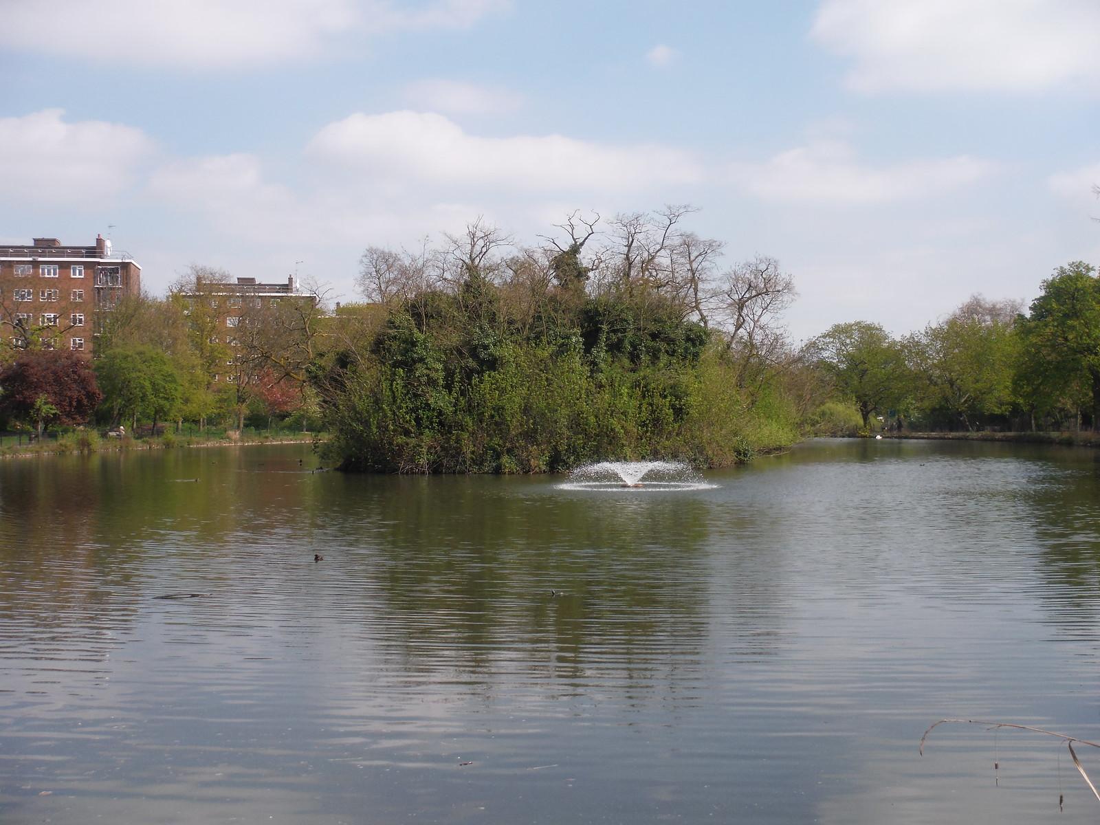 Lake in Clissold Park SWC Short Walk 26 - Woodberry Wetlands (Stoke Newington Reservoirs) [Alternative Ending]